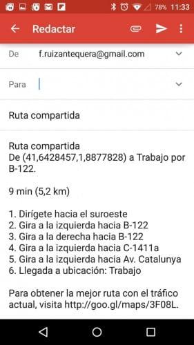 [APK] Descarga Google Maps 9.3 con posibilidad de compartir las instrucciones de ruta