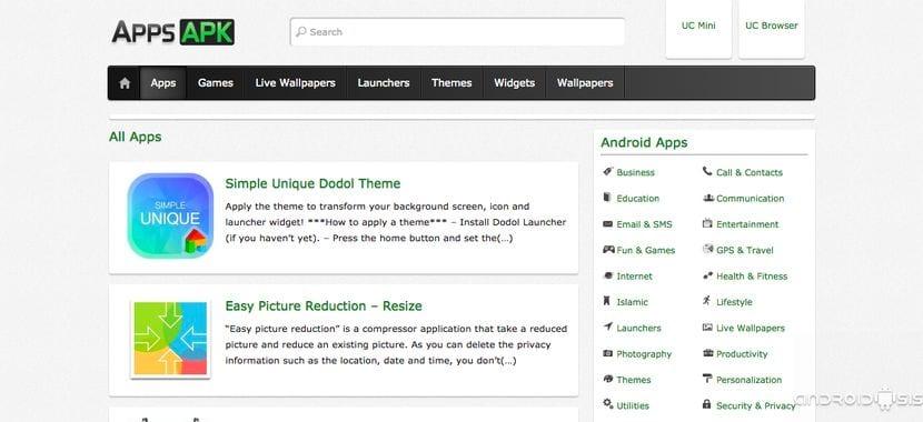APPS Apk, una página web para descargarte tus aplicaciones favoritas Android directamente en APK
