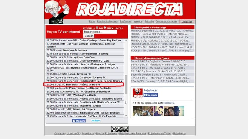 Barça - Atlético de Madrid gratis en tu Android u ordenador personal vía Roja Directa