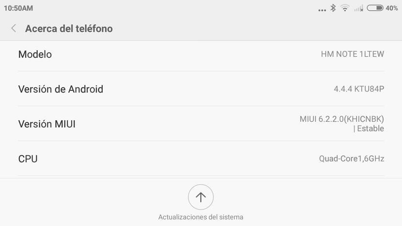 Cómo actualizar el Xiaomi RedMi Note 4G a MIUI V6 Android 4.4.4 Kit Kat