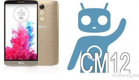 Cómo actualizar el LG G3 a Android 5.0 CM12 [Modelo D855]