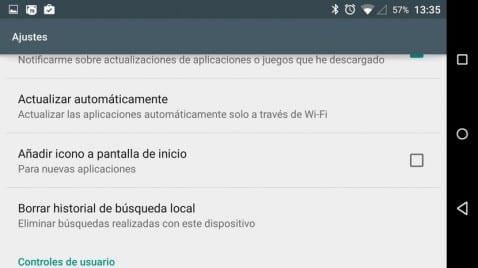 Cómo evitar que las aplicaciones descargadas desde el Play Store instalen accesos directos en el escritorio de nuestro Android