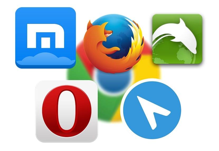 Exploradores web Android