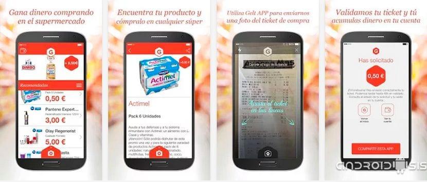 GELT te paga dinero por utilizar tu Android en las compras diarias