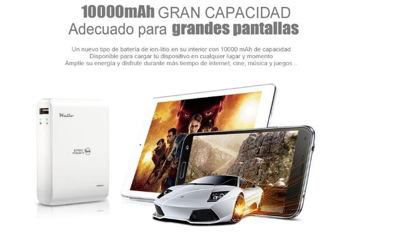 iPow 10000E el PowerBank de Walio de 10.000 mAh más ligero del mercado