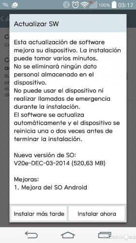 Los LG G3 de Movistar están recibiendo su esperada actualización a Android Lollipop