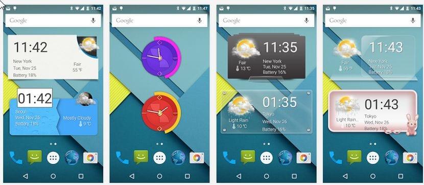 Los mejores Widgets de reloj y tiempo al alcance de tu Android con ACW Amaze Clock Widget