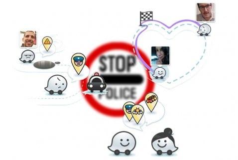 Waze SocialDrive policia