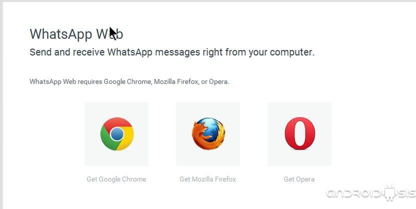WhatsApp Web ya es compatible con otros navegadores web