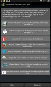Configuración de Apps