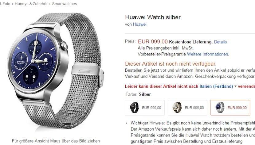 Huawei Watch precio