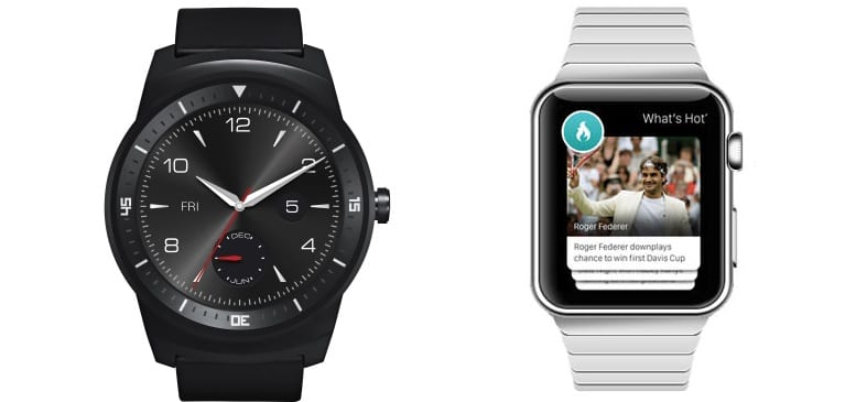 LG G Watch Apple Watch