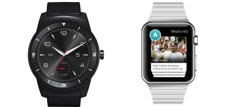 LG G Watch Apple Watch