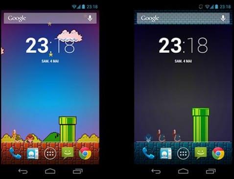 Nintendo Android pantalla.