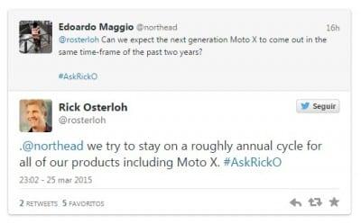 Moto X 2015 CEO Twitter