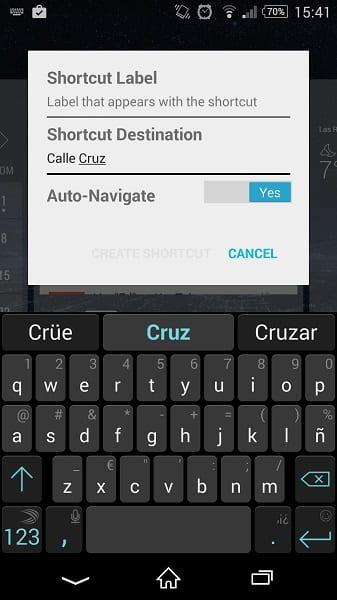 Acceso directo Waze