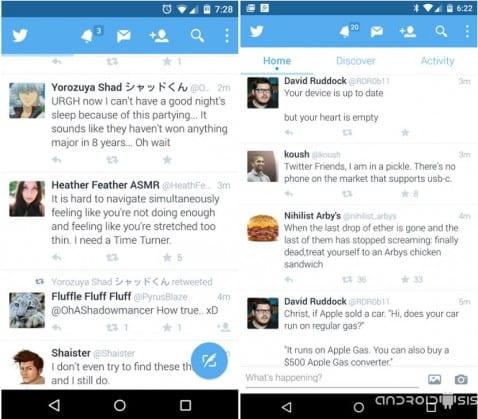 [APK] Descarga ya Twitter con sabor a Material Design