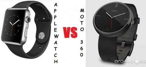 Comparativa Apple Watch VS Moto 360