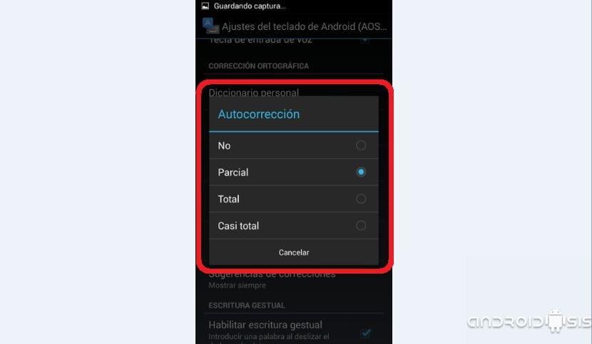 Cómo activar desactivar el corrector en Android