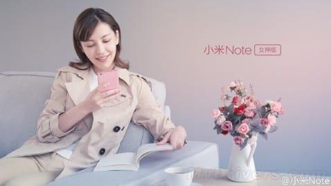 xiaomi mi note rosa
