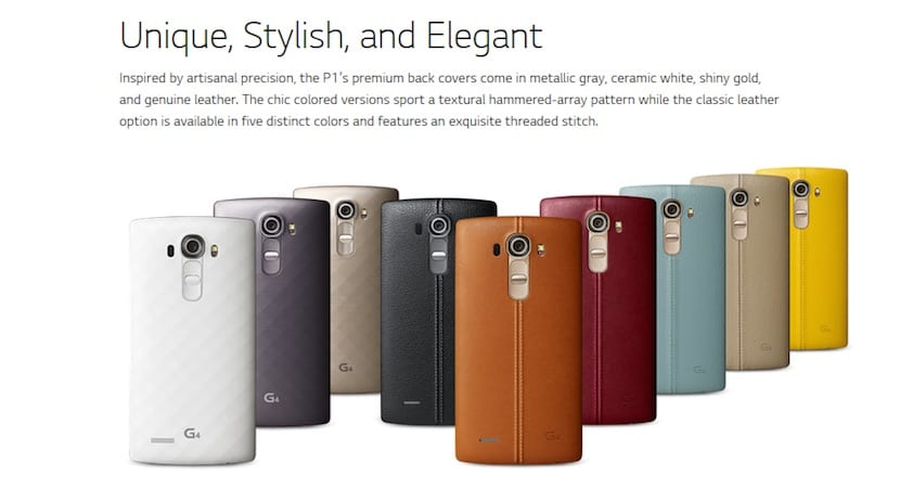 Carcasas LG G4 minisite