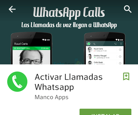 Falsa app para activar llamadas en WhatsApp