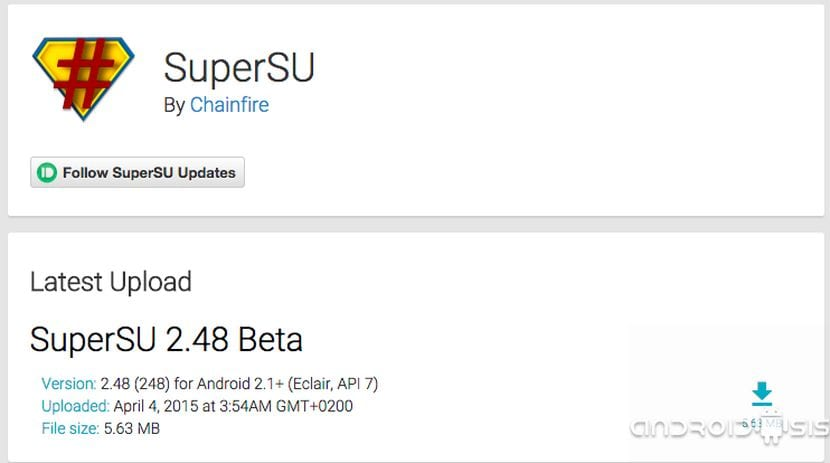 [APK] SuperSu, Descarga la última versión disponible de la app de Chainfire