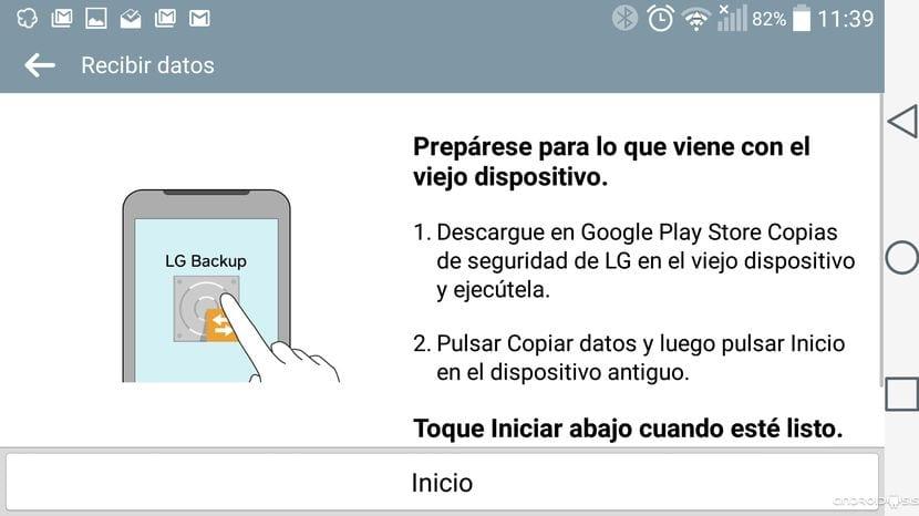 Cómo usar LG Backup