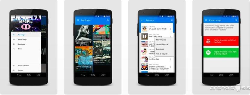 [APK] Mp3Pig, una de las mejores aplicaciones para descargar música gratuita desde Android