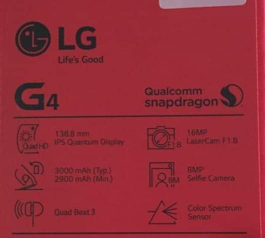 LG G4 especificaciones