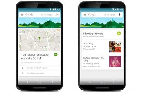 Google Now nuevas apps