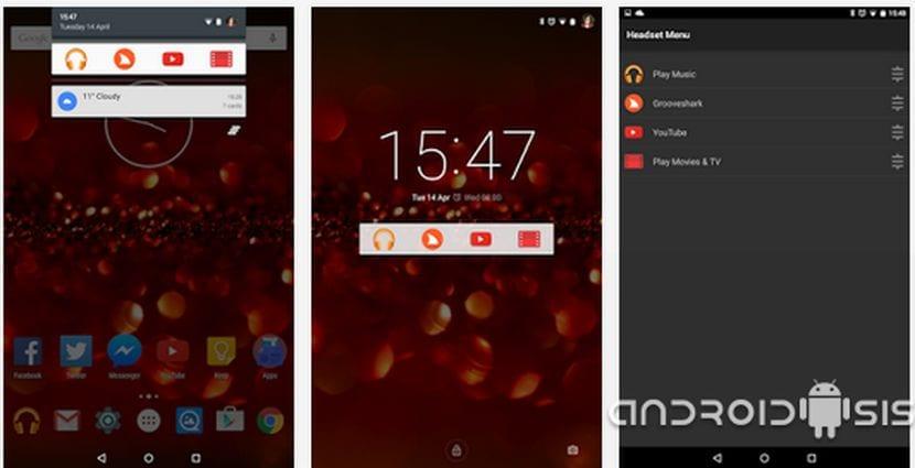 Headset Menú la app para automatizar acciones al conectar unos auriculares en tu terminal Android