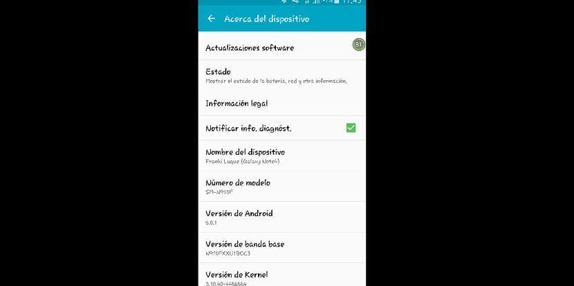 Los Samsung Galaxy  Note 4 de Vodafone se actualizan a Android Lollipop