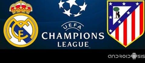 Cómo ver en directo el Real Madrid Atlético de Madrid de la Champions League