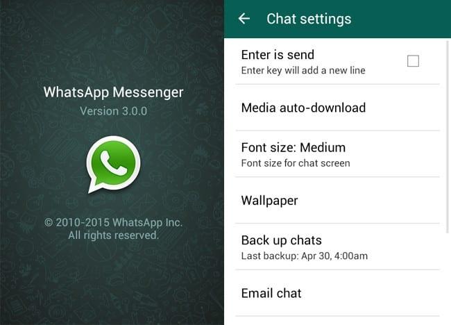 WhatsApp 3.0.0
