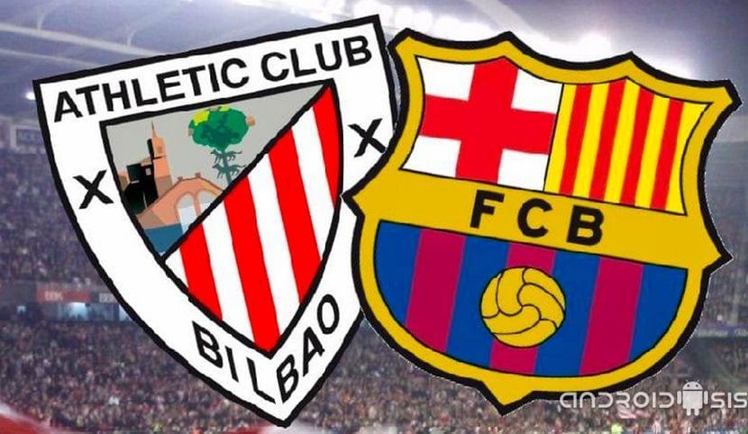 final de la copa del Rey entre el Atlético de Bilbao y FC Barcelona