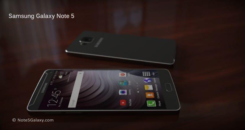 Samsung Galaxy Note 5 concepto