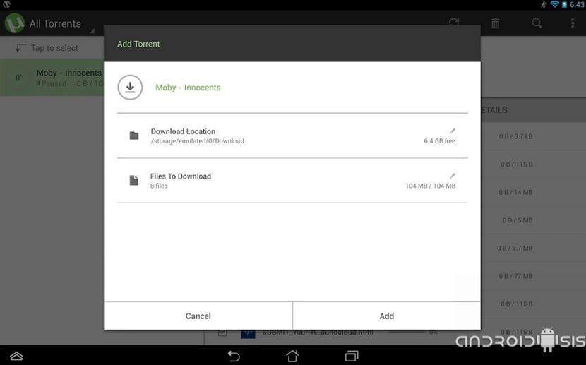 Cómo descargar archivos torrent desde Android, incluso de Webs restringidas