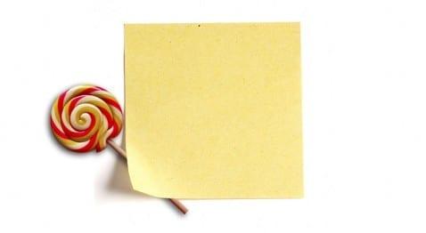 Notas rápidas Lollipop