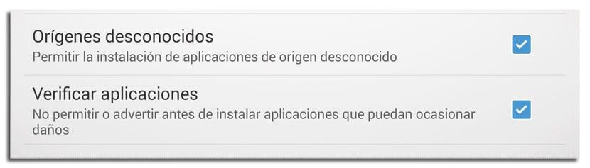 Evitar virus en android activando los Orígenes desconocidos de apps en Android