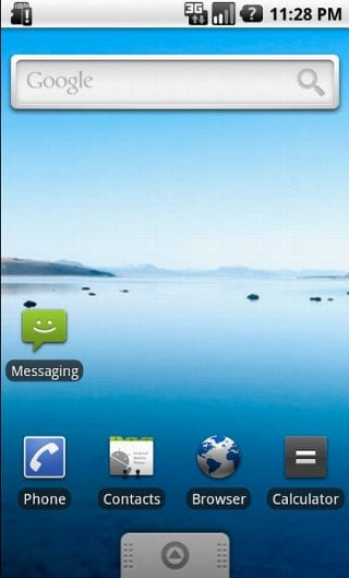 Pantalla de inicio de Android 1.6