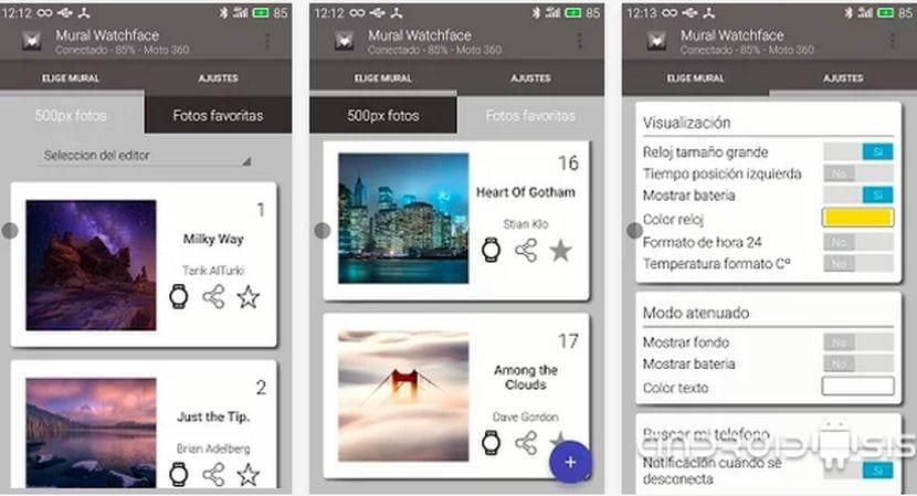 Aplicaciones imprescindibles para Android Wear: Hoy Mural Watchface