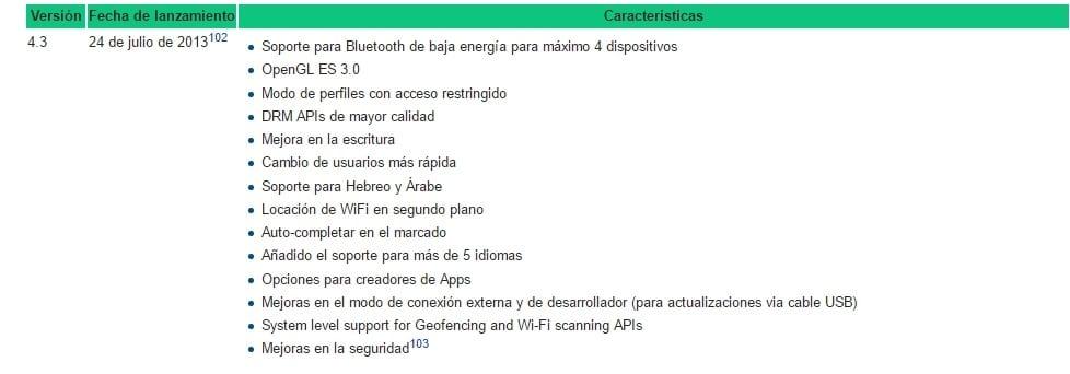 Características más relevantes de Android 4.3