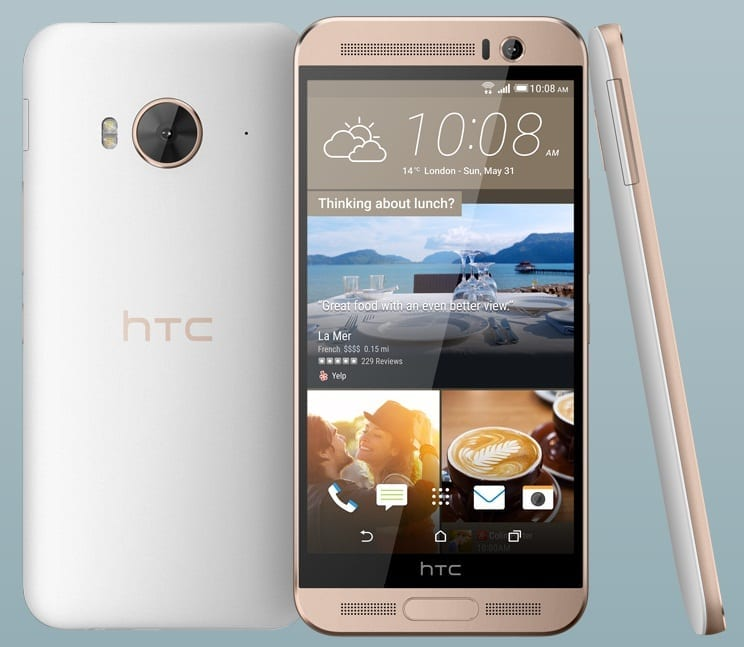 htc one me frontal trasera