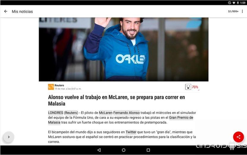 la mejor aplicación de noticias para Android