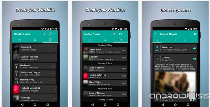 Toda la información de las mejores series de televisión al alcance de tu Android