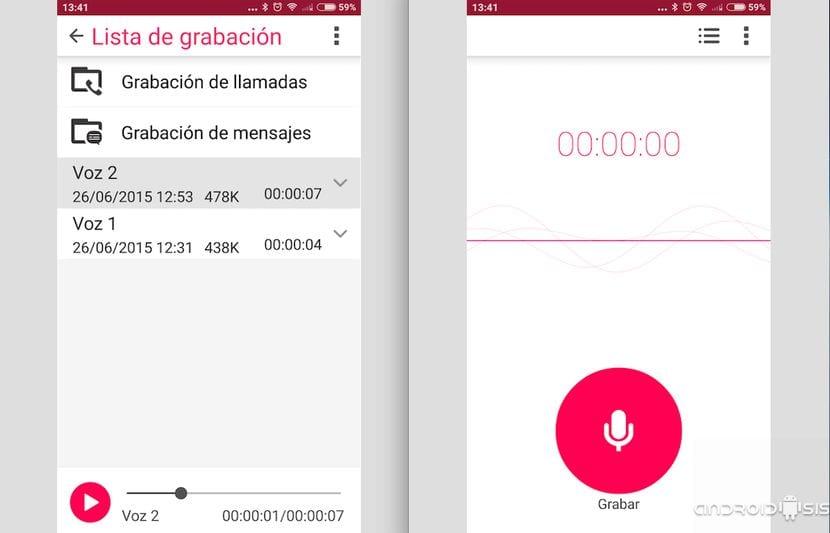Aplicación música, Galería y Sound Recorder del Asus Zenfone 2