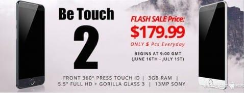 Consigue un Ulefone Be Touch 2 con 50 dólares de descuento en las ventas Flash. (Unidades limitadas)