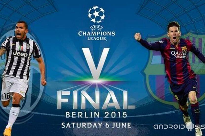 El mejor sitio para ver la final de la Champions League 2015 es tu terminal Android