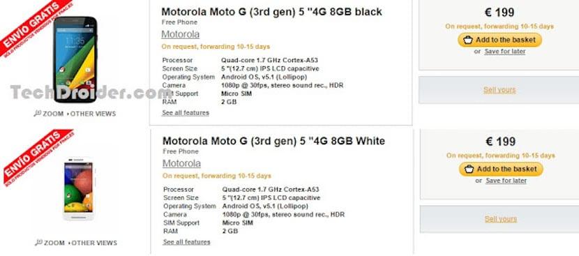 Moto G 2015 Fnac